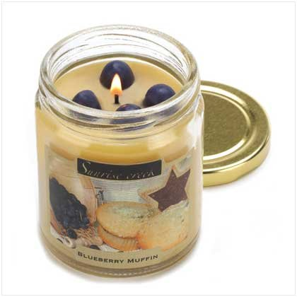 Blueberry Muffin Scent Scented Glass Jar Candle Soy Wax