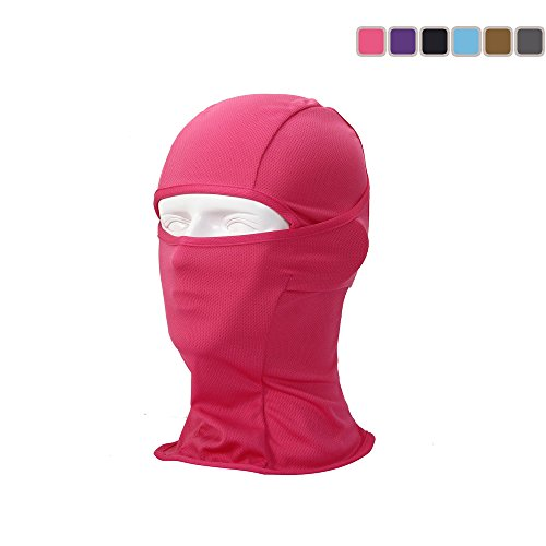 LEAGY Uniquely Versatile It Can Be Worn in up to 6 Different Ways for Protection, Comfort and Fun. Multi-functional Headwear, Multi-purpose Sports Balaclava - Offers Wind and Uv Protection (Rose Red)