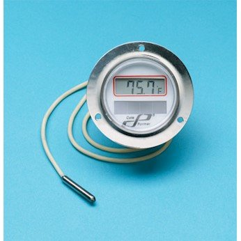 Cole-Parmer Panel-Mount Solar Powered Thermometer, 304 SS case, 2