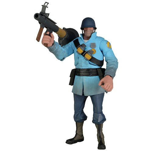 Team Fortress 7inch Ultra Deluxe Action Figure Series 2 BLU Soldier