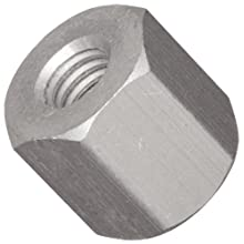 "Hex Standoff, Aluminum, Plain Finish, Female, Right Hand, #6-32 Screw Size, 3/16"" Length (Pack of 25)"