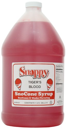 Snappy Popcorn Snow Cone Syrup Gallon, Tigers Blood, 11 Pounds (Gallon Snow Cone Syrup compare prices)
