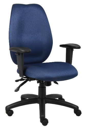 Boss High-Back Task Chair, Blue