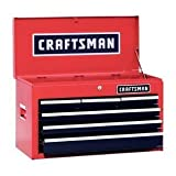 Craftsman 6 Drawer Heavy Duty Top Tool Chest, All Steel Construction & Smooth Glide Drawers (Color: Red, Tamaño: 26W x 12D x 15.25H)