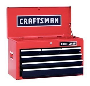 Craftsman 6 Drawer Heavy Duty Top Tool Chest, All Steel Construction & Smooth Glide Drawers (Tool Boxes Craftsman compare prices)