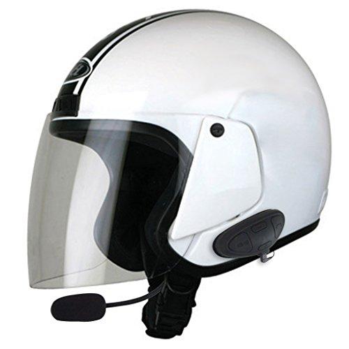 Best_Express Helmet Bluetooth Headset Stereo Motorcycle Hands-Free Wireless Bluetooth Headphones (Black)