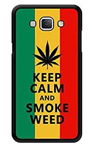 """Humor Gang Keep Calm And Smoke Grass Printed Designer Mobile Back Cover For """"Samsung Galaxy A8"""" (3D, Glossy, Premium Quality Snap On Case)"""