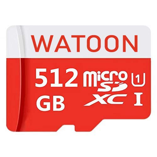 Micro SD Card 512GB High Speed Class 10 Micro SD SDXC Card with Adapter (Color: 512GB)