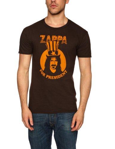 frank-zappa-zappa-for-president-maglietta-uomo-marrone-brown-xl