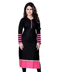 New Fashion Black Pink Cotton kurti