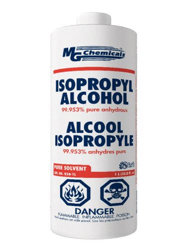 Why Choose MG Chemicals 824 99.9% Isopropyl Alcohol Liquid Cleaner, 945ML (1 US Quart), Clear