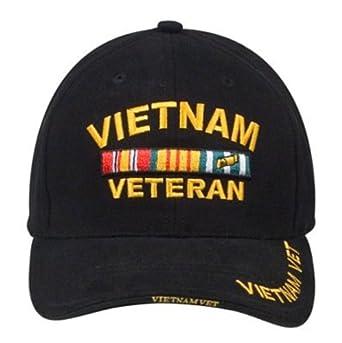 9321 Black Vietnam Veteran Insignia Cap (Adj.)