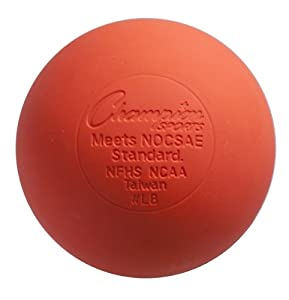 Champion Sports NFHS Approved Lacrosse Ball - Pack of 12 Color: Orange (LBO) by Champion