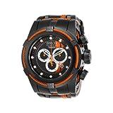 Invicta Men's 'Reserve' Quartz Stainless Steel Watch, Color:Black (Model: 26473) (Color: Orange)