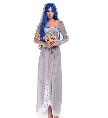 Blues Outfit Women Halloween Costume Beauty Ghost Spirit Costume Adult