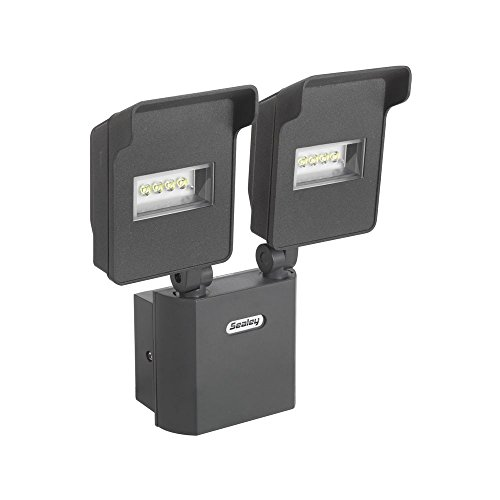 Sealey LED046 Floodlight with 2-Swivel Head and Wall Bracket LED, 230 V, 20 W