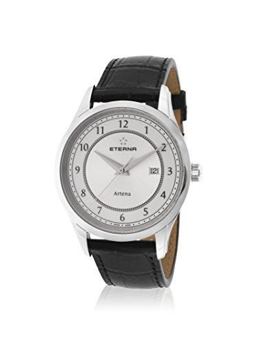 Eterna Men's Artena Black/White Leather Watch