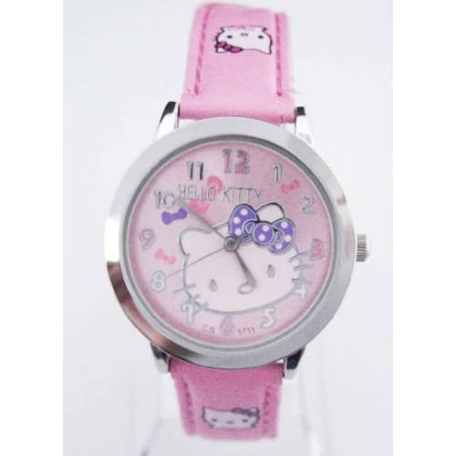 Miss Peggy Jos  Childs Hello Kittys KT71pk Quartz Movement Watch**Comes with a Hello Kitty Necklace***2 3 Days From Order to Your Door***