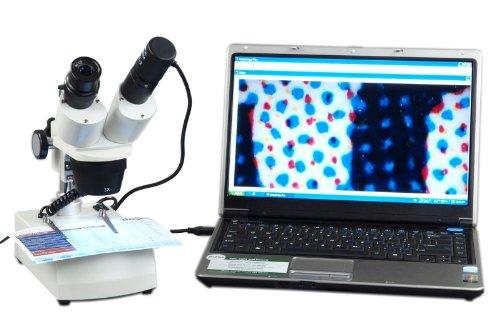 Omax 10X-30X Digital Led Binocular Stereo Microscope With Dual Led Lights And Usb Digital Camera