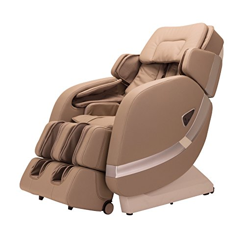 Adako Twilight L-Shape Zero Gravity Full Recliner Massage Massaging Chair with 6 Preset Massage Modes Unlimited Custom Modes Latest Version LED Light Remote Controller (Beige)
