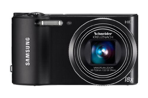 Samsung WB150 Compact Digital Camera - Black (14.1MP, 18x Optical Zoom) 3.0 inch LCD