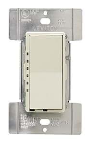 Leviton R01-MDI06-1LI Decora Mural Digital Dimmer 600-Watt 15A 120V Ivory