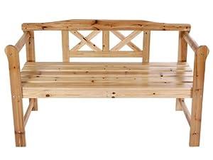 Miadomodo® GRTB02 Wooden Garden Bench 2-Seater Patio Terrace Outdoor Furniture