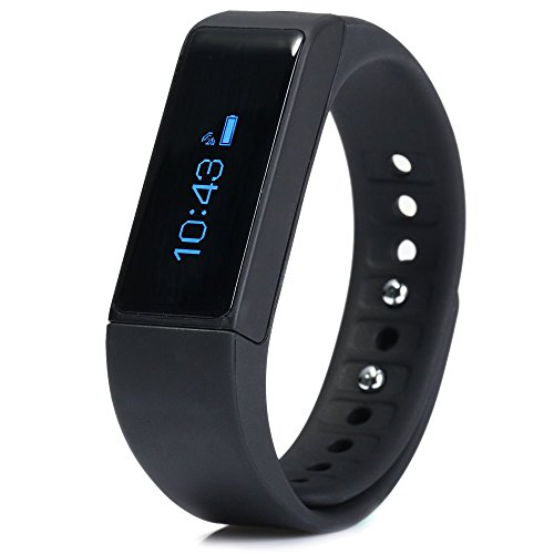 I5 Plus Smart Bracelet Bluetooth Waterproof Watch Sleep Monitoring Sports Tracking Remote Camera (Black)