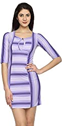 Texco Garments Women's A-Line Dress (9, Purple, M)
