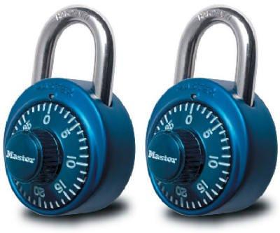 Master Lock 1530T 2-Pack Colored Dial Combination Padlocks -