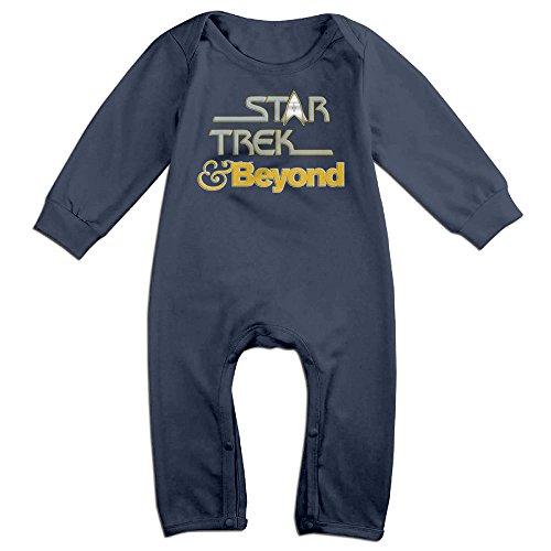 HOHOE Newborn Star Beyond Trek Long Sleeve Bodysuit Baby Onesie 24 Months (Captain Kirk Outfit)