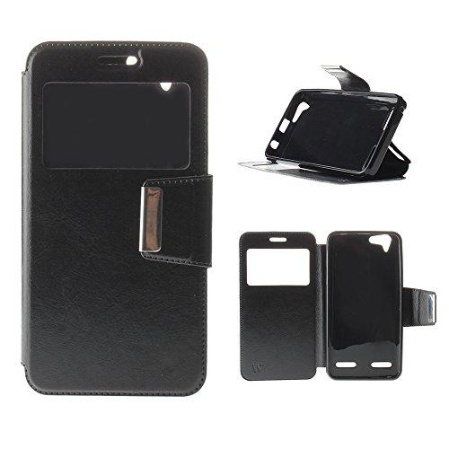 BeCool® - Custodia portafoglio / libro per Lenovo Vibe K5, con finestra di visualizzazione, protegge e si adatta alla perfezione al tuo Smartphhone. Wallet Book Style Flip Case Cover. M