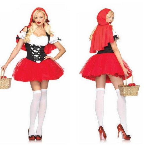 Suosi Damen Mädchen Sexy Rotkäppchen