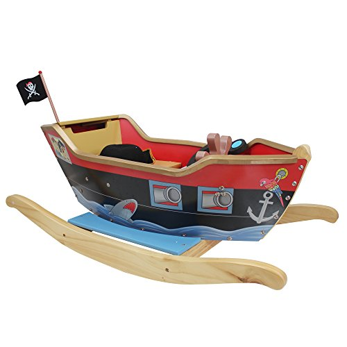Teamson Pirate Boat with Sword, Scope, and Hat
