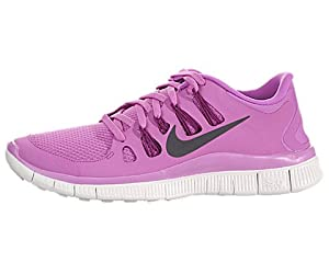 The Womens Nike Free 5.0+ Running Shoe Red Violet/Bright Magenta/Summit White/Iron Ore Size 7.5