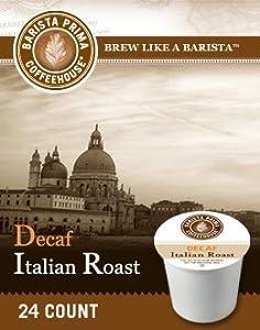 Barista Prima Coffee DECAF ITALIAN (1 Box of 24 K-Cups)