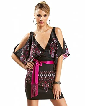 bebe.com : Kimono Sleeve Belted Dress from bebe.com