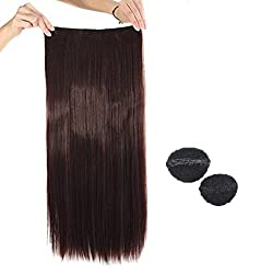 Kabello Clip-in Hair Extensions(Free Hair Base Set Of 2) (Dark Brown)