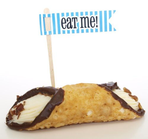 """""""Eat Me"""" Food Sticks, Blue (Set Of 12) - Place In A Sandwich, Muffin, Pastry, Or Hors D'Oeuvre"""