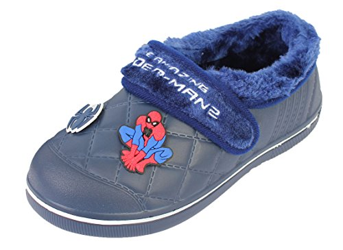 The Amazing Spider-man Boy's Winter Warm Indoor Clog Mule Shoes (Toddler/Youth)