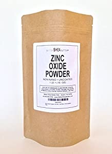 Zinc Oxide Powder, Non-Nano, Uncoated, Pharmaceutical Grade by Better Shea Butter - Active Ingredient in Homemade Sunscreen, Diaper Rash Creams, Anti-Rash Lotions and Acne Creams - 1LB (16 oz)