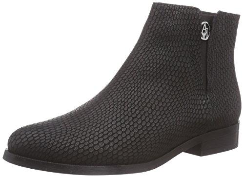 Armani Jeans Shoes & Bags DE B551413, Stivaletti a gamba corta mod. Chelsea, imbottitura leggera donna, Nero (Schwarz (NERO - BLACK)), 39