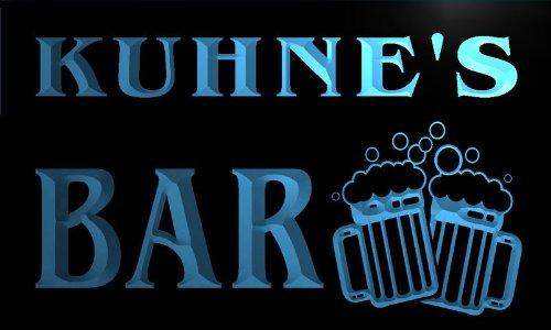 w031943-b-kuhnes-name-home-bar-pub-beer-mugs-cheers-neon-light-sign