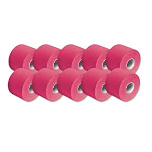 "3B Scientific Pink Cotton Rayon Fiber Kinesiology Tape, 16' Length x 2"" Width (Case of 10 Rolls)"