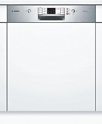 Bosch SMI50L15EU lave-vaisselle - lave-vaisselles (Semi intégré, A, A+, Argent, Blanc, boutons, Rotatif, A)