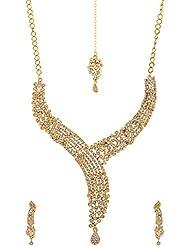 Homeoculture Non-Precious Metal Strand Necklace Set For Women (J20)