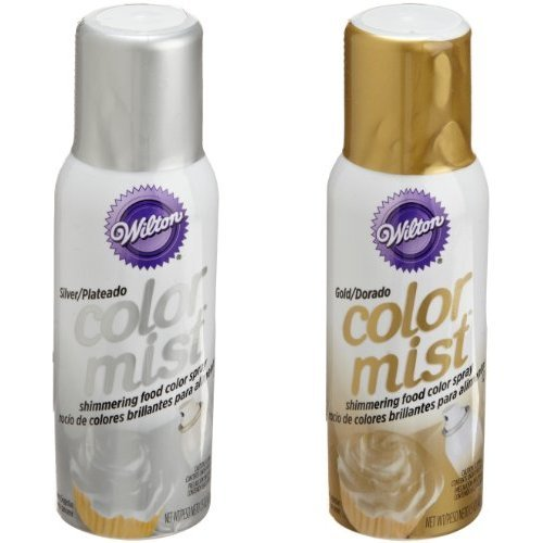 Wilton Silver and Gold Color Mist (Set of 2) (Wilton Spray compare prices)