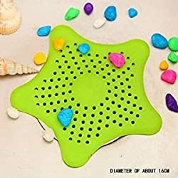 Skywalk Starfish Hair Catcher Rubber Bath Sink Strainer Shower Drain Cover Trap Basin (Multicolor)
