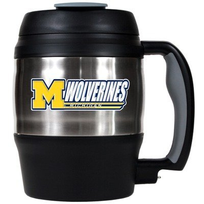 Ncaa Michigan Wolverines 52-Ounce Stainless Steel Macho Travel Mug With Bottle Opener front-628766