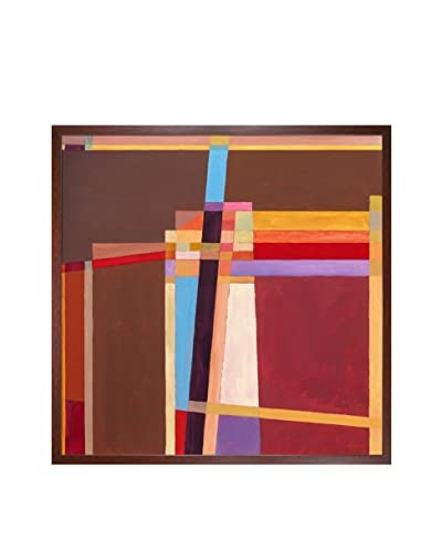 Clive Watts Rangle No 5 Framed Print On Canvas, Multi, 25.5″ x 25.5″